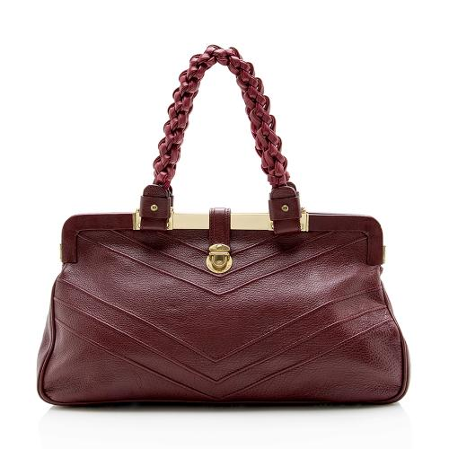 Marc Jacobs Leather Braided Framed Satchel