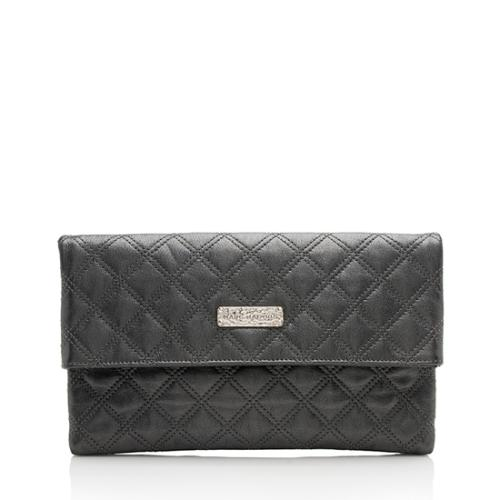 Marc Jacobs Leather Eugenie Large Clutch