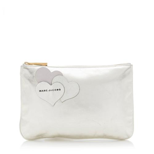 Marc Jacobs Leather Love Big Heart Clutch