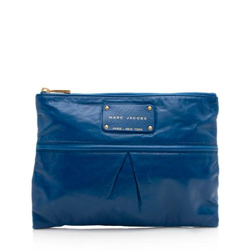 Marc Jacobs Leather Palais Royal Large Clutch