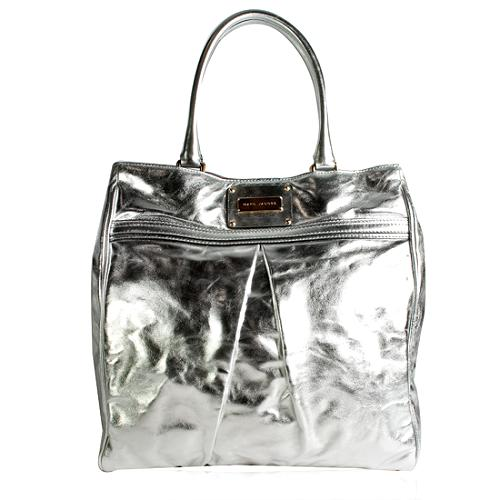 Marc Jacobs Leather Pleated Kristin Tote