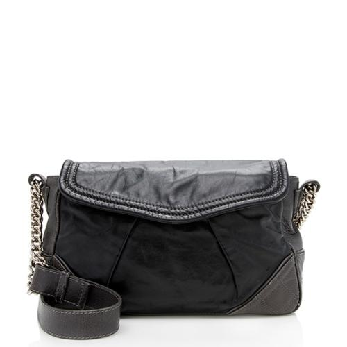 Marc Jacobs Leather Pleated Small Shoulder Bag