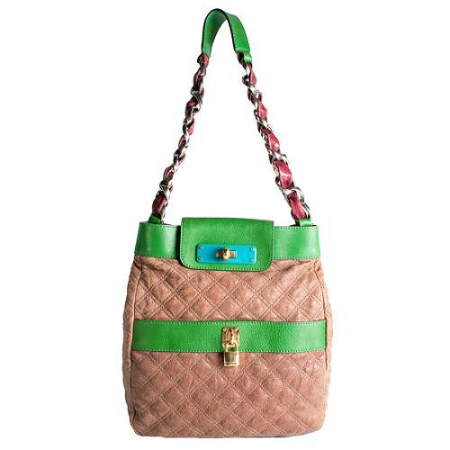 Marc Jacobs Quilted Color-Block Shoulder Handbag