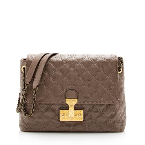 Marc Jacobs Quilted Leather Baroque Extra Large Single Shoulder Bag
