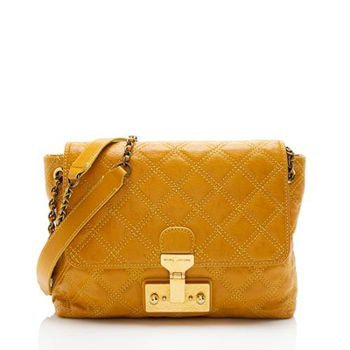 Marc Jacobs Quilted Leather Baroque Large Single Shoulder Bag