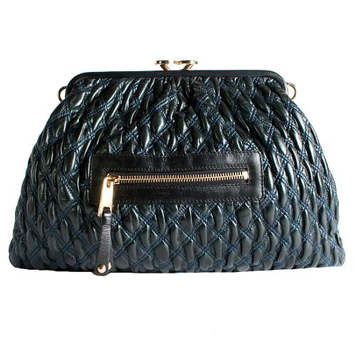 Marc Jacobs Quilted Leather Stam Shoulder Handbag