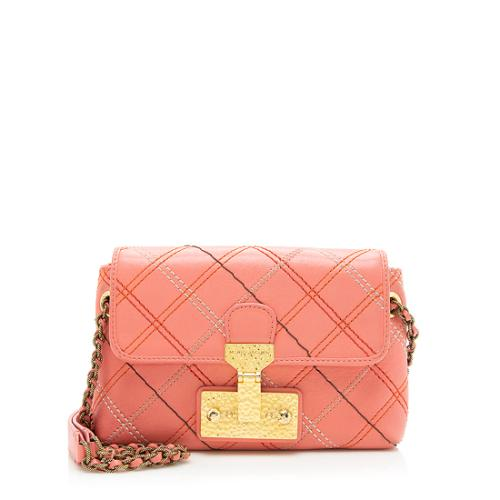 Marc Jacobs Quilted Leather The Single Baroque Small Shoulder Bag