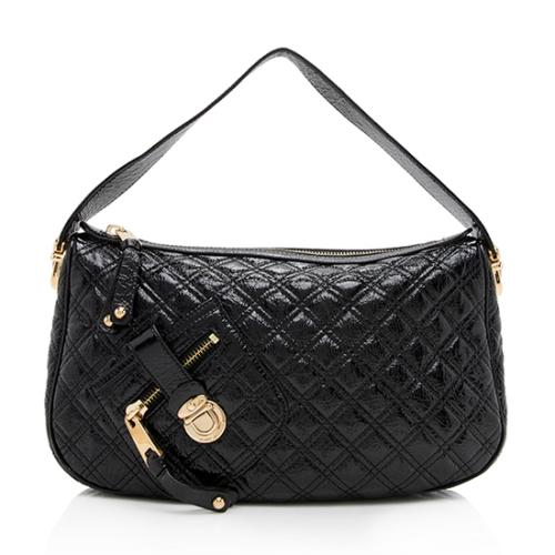 7a9ca50b8ca5 Marc Jacobs Quilted Patent Leather Ursula Shoulder Bag