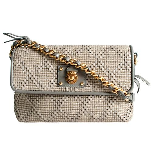 Marc Jacobs Raffia Single Gatsby Shoulder Handbag