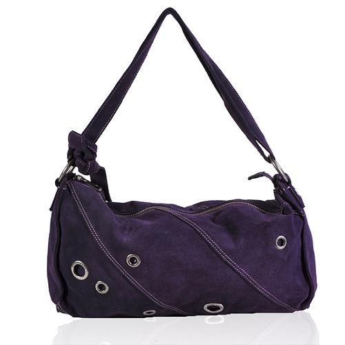 Marc Jacobs Suede Embelllished Hobo Handbag