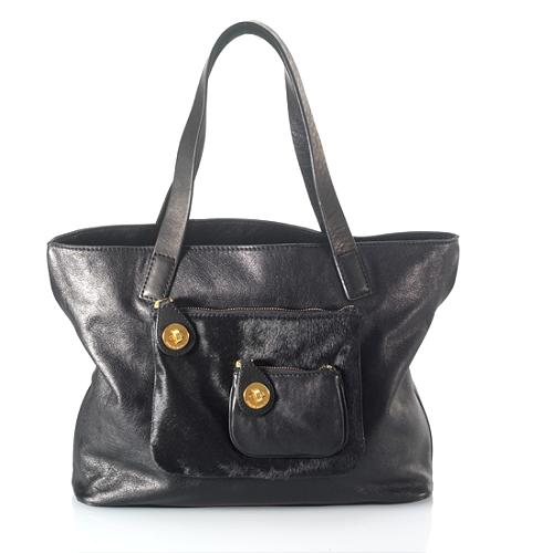 MARC By Marc Jacobs Small Leather & Haircalf Pocket Tote