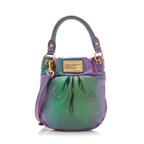 Marc by Marc Jacobs Iridescent Leather Classic Q Mini Shoulder Bag