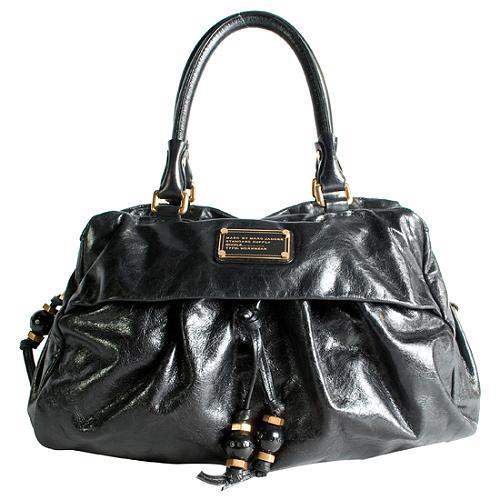 Marc by Marc Jacobs New Q Solid Groovee Satchel Handbag
