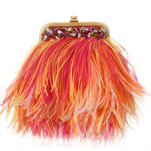 Mary Norton Small Ostrich Feathers Evening Handbag