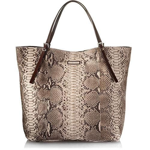 Michael Kors Hadley Darrington Python Large Slouchy Tote