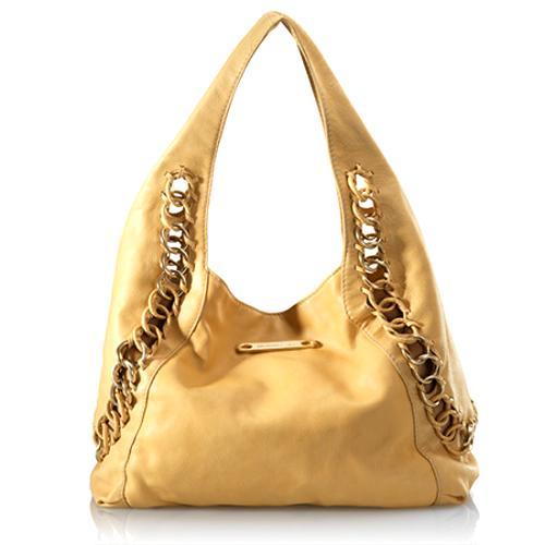 Michael Kors Leather Large Chain Hobo Handbag
