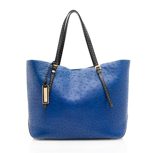 Michael Kors Ostrich Embossed Leather Gia Tote