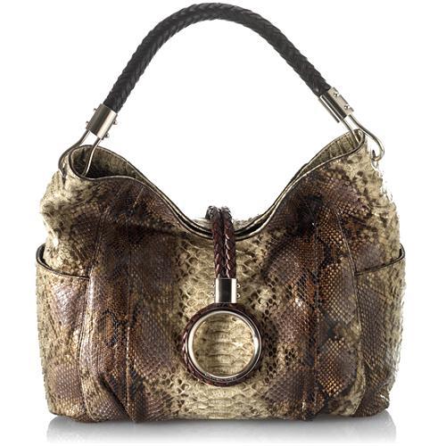 6a6271423fa Michael Kors 'Skorpios' Python Ring Hobo Handbag