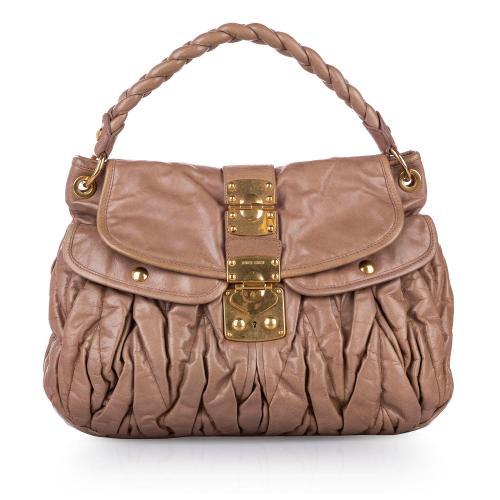 Miu Miu Coffer Leather Satchel
