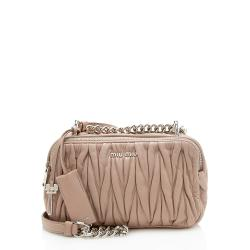Miu Miu Lambskin Chain Double Pocket Camera Bag