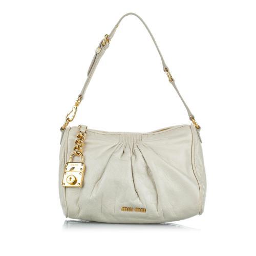 Miu Miu Lambskin Leather Shoulder Bag