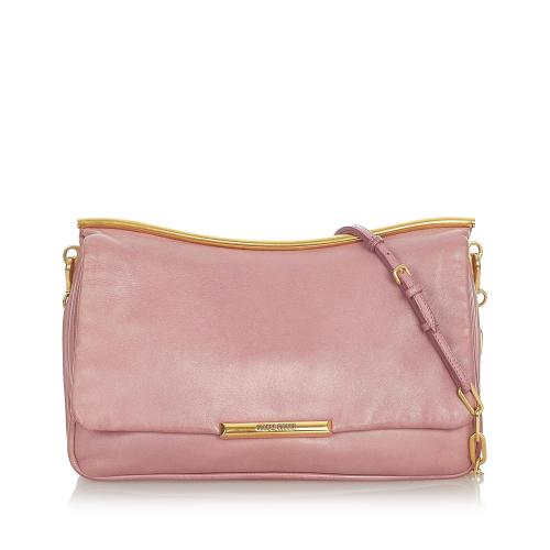 Miu Miu Leather Chain Shoulder Bag