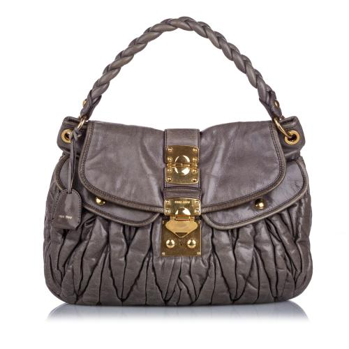 Miu Miu Leather Coffer Satchel