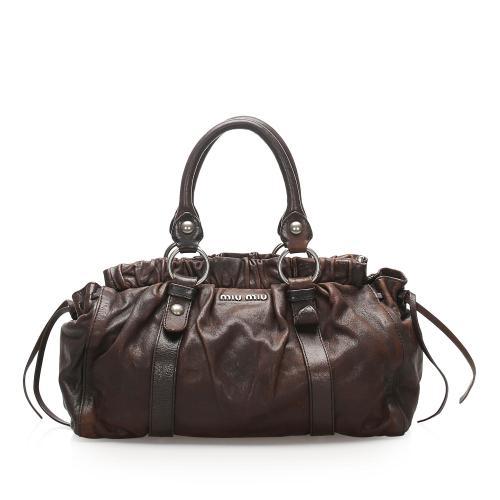 Miu Miu Leather Satchel