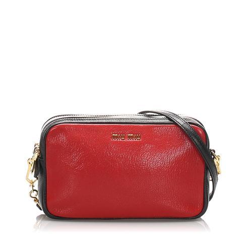 Miu Miu Madras Double Zip Crossbody Bag