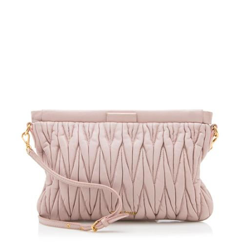 Miu Miu Matelasse Leather Framed Shoulder Bag