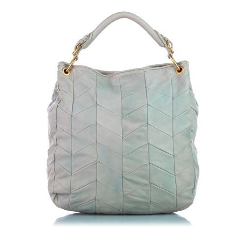 Miu Miu Quilted Lambskin Leather Tote Bag