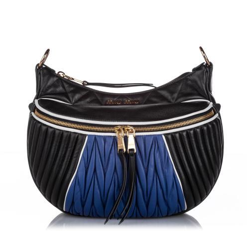 Miu Miu Leather Rider Shoulder Bag