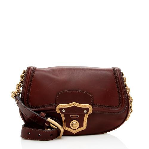 Miu Miu Vintage Leather Chain Cordova Shoulder Bag