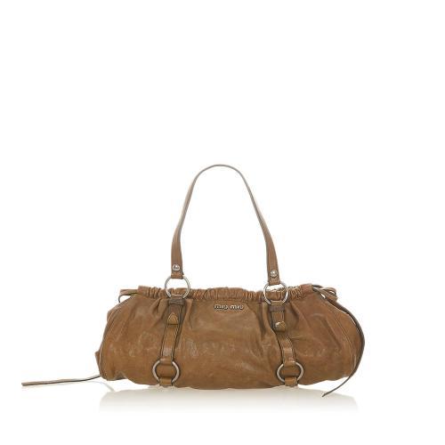 Miu Miu Vitello Shine Shoulder Bag