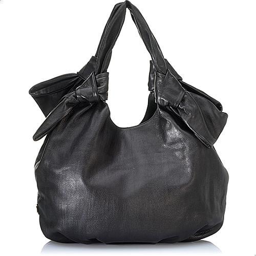 Moschino Bubble Leather Shoulder Handbag