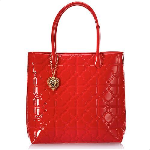 Moschino Heart Quilting Borsa Manici Handbag