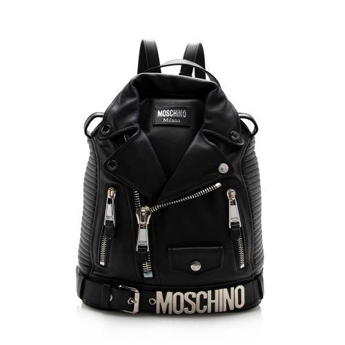 Moschino Leather Biker Backpack