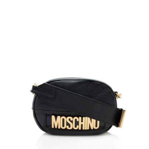 Moschino Leather Logo Shoulder Bag