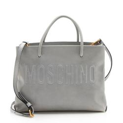 Moschino Leather Logo Tote