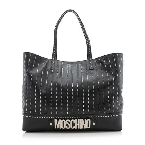 Moschino Leather Studded Tote