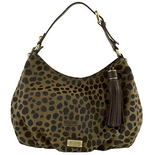 Moschino Leopard Print Shoulder Handbag