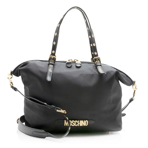 Moschino Nylon Leather Tote