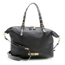 Moschino Nylon Leather Tote