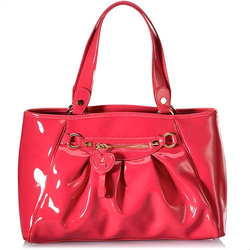 Moschino Patent Borsa Manici Handbag