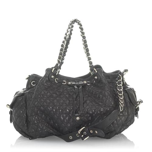 Moschino Quilted Leather Satchel
