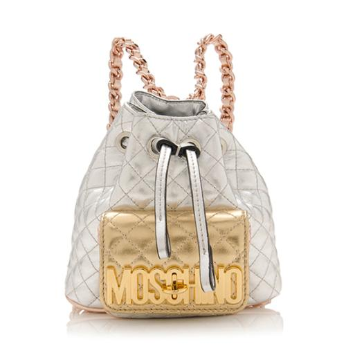 cheap wide selection of colours and designs fashion style Moschino Sheepskin Quilted Mini Backpack