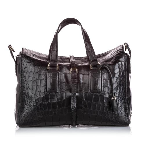 Mulberry Embossed Leather Roxette Satchel