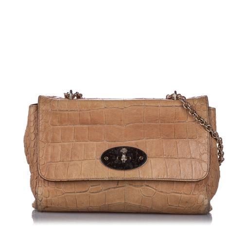 Mulberry Embossed Medium Lily Shoulder Bag