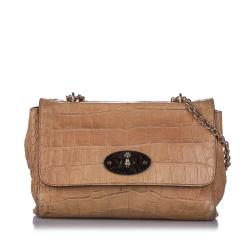 Mulberry Embossed Medium Lily Shoulder Bag
