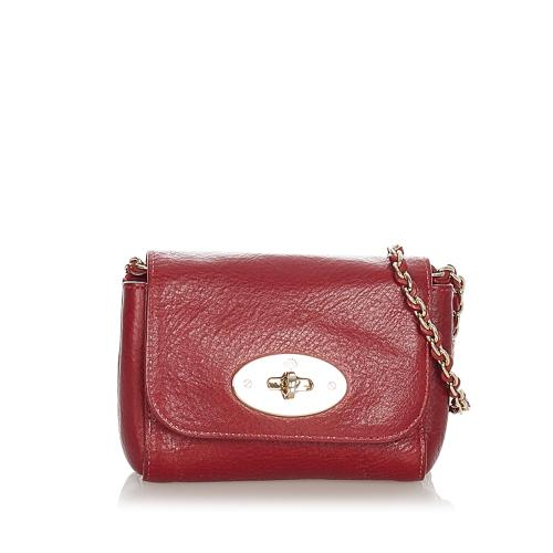 Mulberry Mini Lily Leather Crossbody Bag